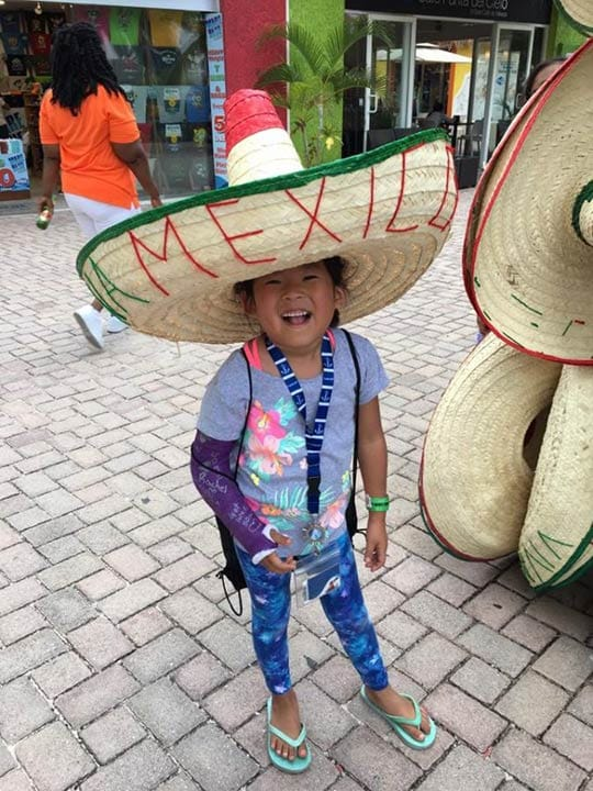 daughter in mexico hat