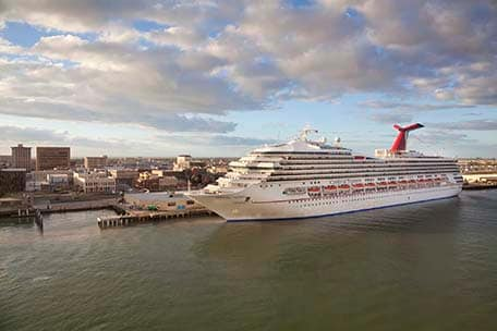 carnival triumph docked in galveston texas