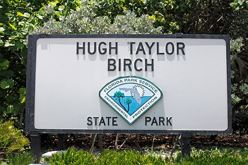 hugh taylor birch state park sign