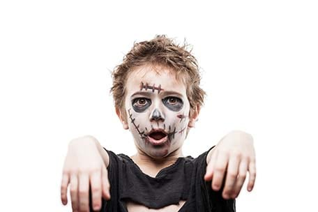 boy dressed as a zombie