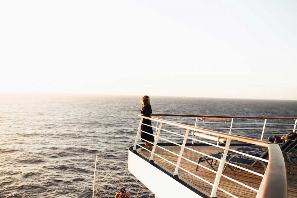 woman on cruise deck