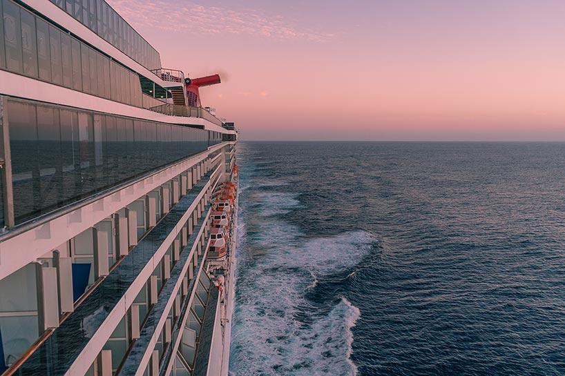 aboard cruise ship