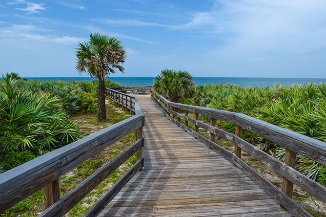 boardwalk at Canaveral national seashore