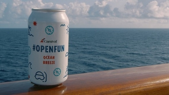 carnival openfun ocean breeze can on the caribbean sea