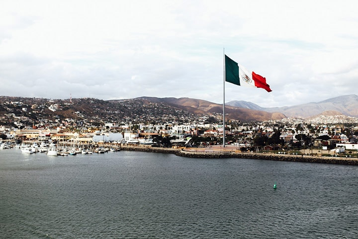 view of ensenada mexico from the port of ensenada