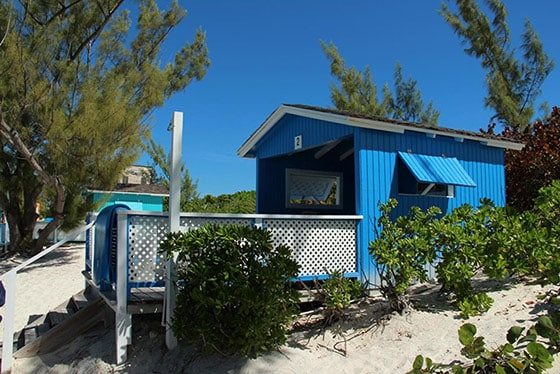 a blue cabana rental located in half moon cay, the bahamas