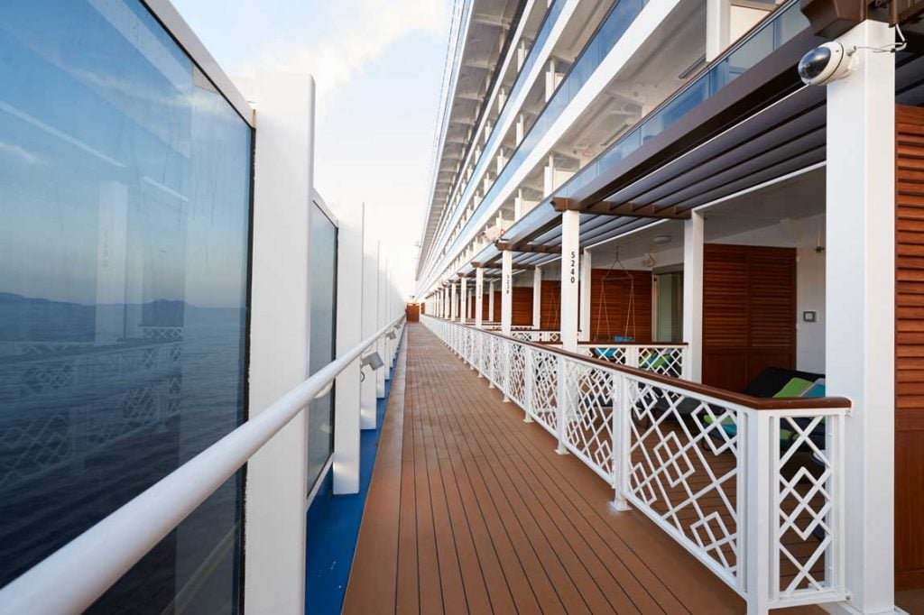 ocean view of the havana cabanas on board carnival horizon