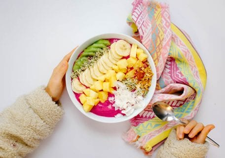 Caribbean Inspired Dragon Fruit Smoothie Bowl Recipe