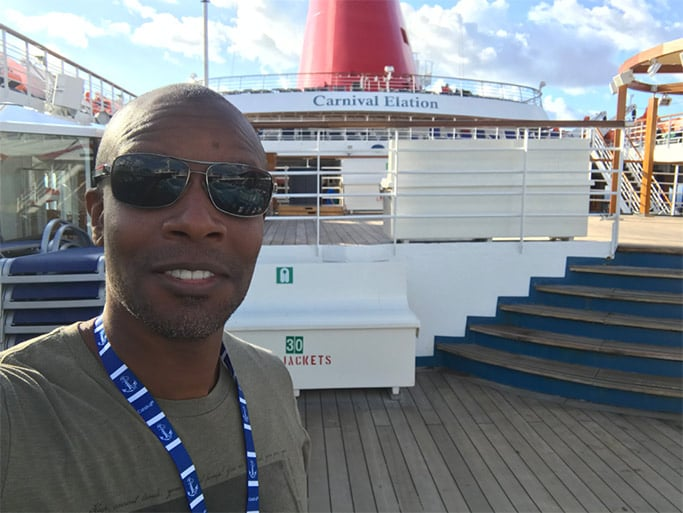 Doyin's selfie on the ship deck