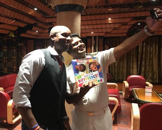 Doyin's selfie with hotel director Francis