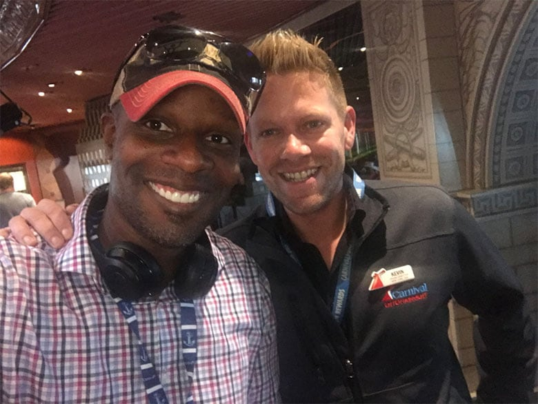 Doyin's selfie with the cruise director