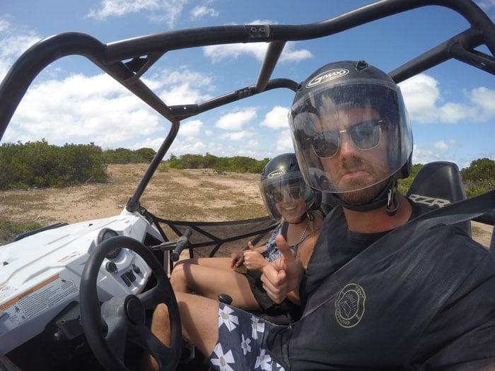 couple's selfie in ATV