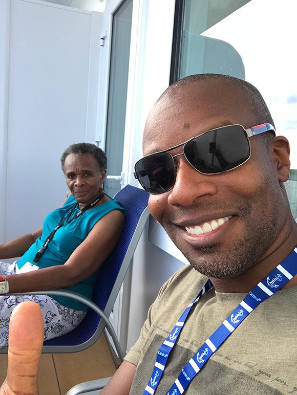 Doyin's selfie on ship