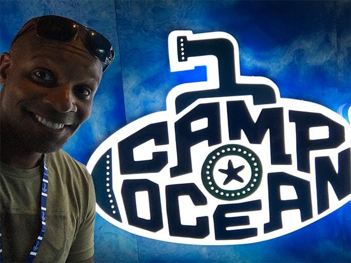 Doyin's selfie at Camp Ocean