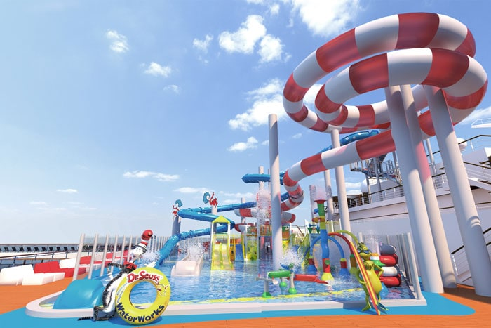 dr seuss themed waterworks onboard carnival horizon