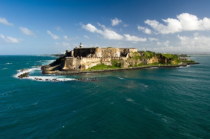 aerial view of the fort san felipe del morro in san juan puerto rico