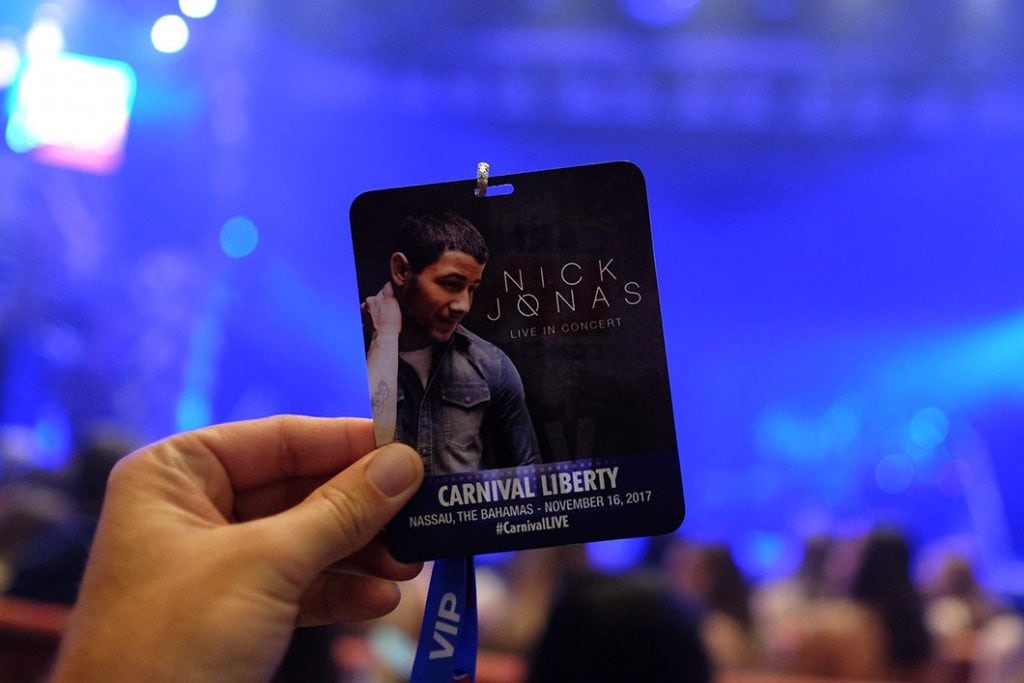 nick jonas vip badge