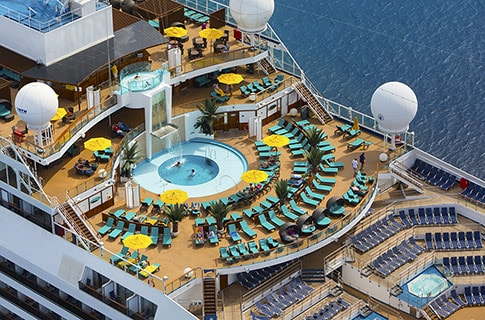 people enjoying Serenity Adults-Only area on Carnival Sunshine