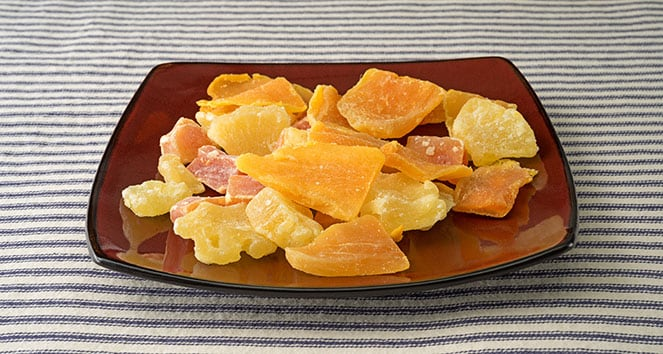 dried mangos on a plate