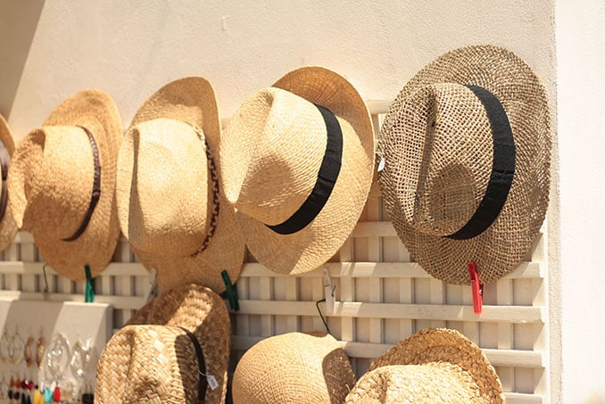 variety of jamaican straw hats for sale