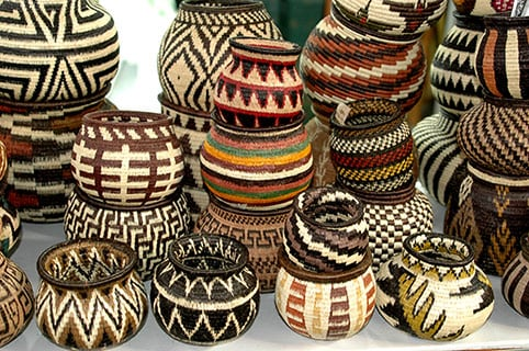 straw baskets for sale in a variety of designs