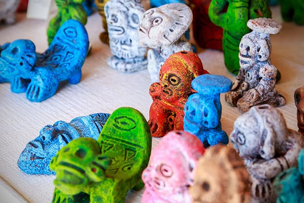 colorful taino inspired sculptures for sale in la romana