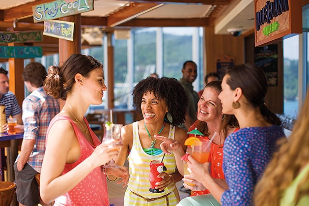 group of woman having drinks at BlueIguana Tequila Bar