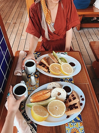 Tess & Sarah's breakfast plates