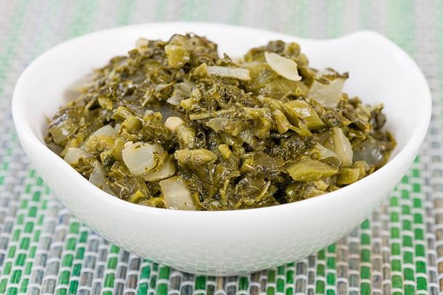 bowl of authentic st thomas callaloo