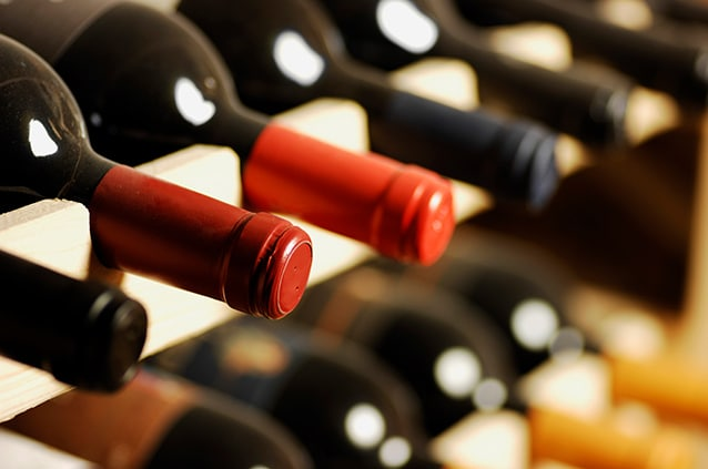 rows of french wines