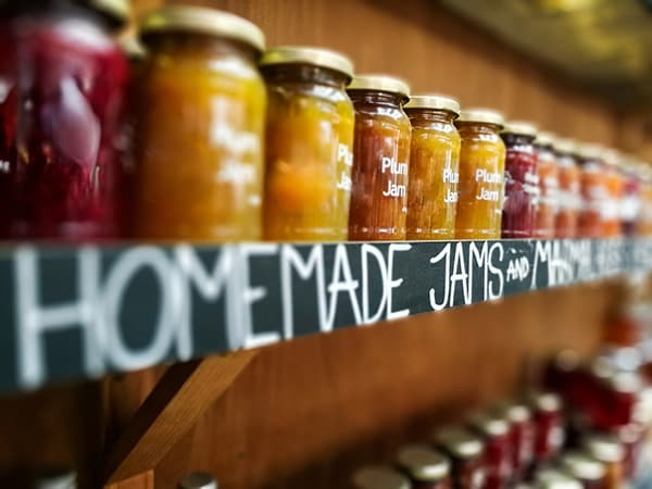 homemade jams made from guavaberries