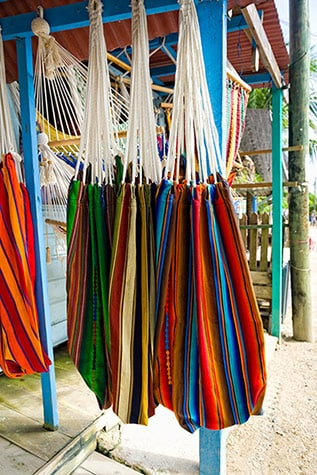 hammocks in outdoor market