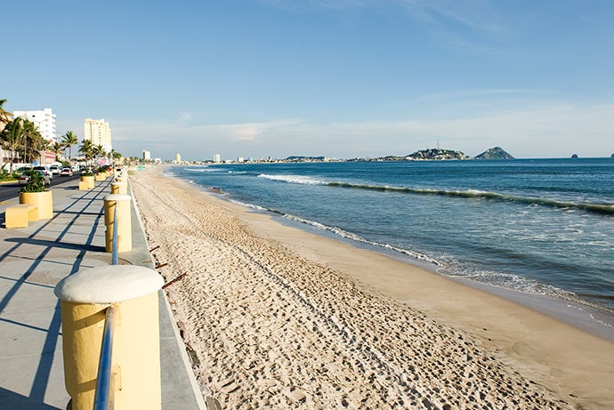 10-mile seaside promenade in mazatlan