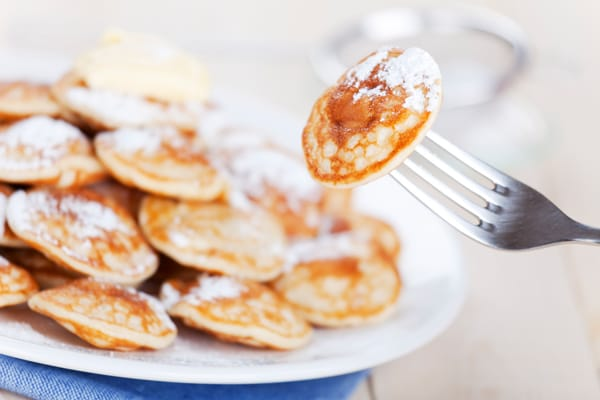 poffertjes, mini pancakes from curacao