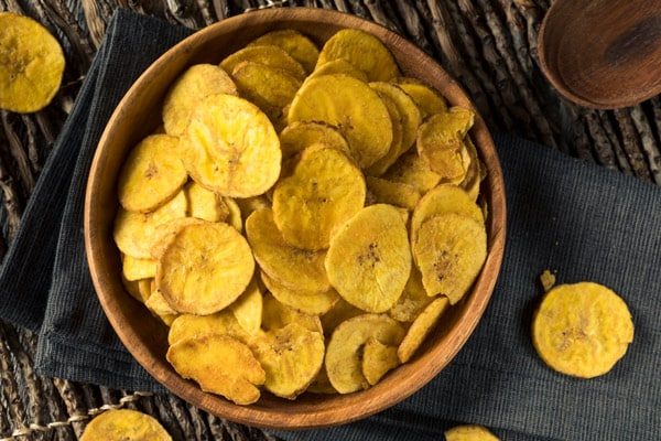 fried plantain chips from grand turk served in a bowl