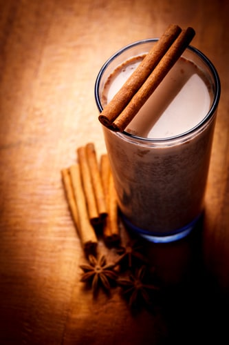 hot chocolate made with cocoa sticks from st lucia