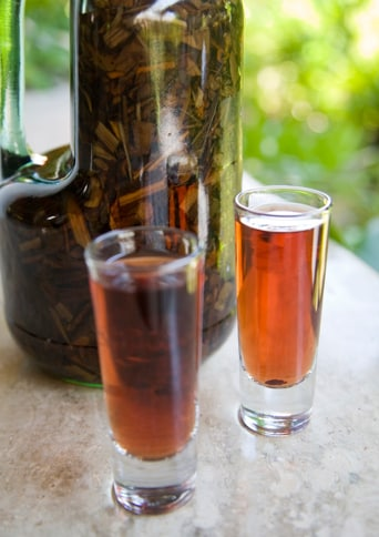 mama juana, local dominican drink, made with red wine, local rum, cinnamon, and honey