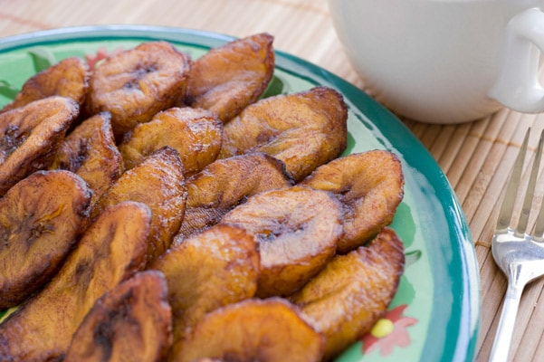 plate of fried plantains