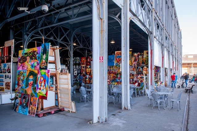warehouse filled in paintings in havana cuba
