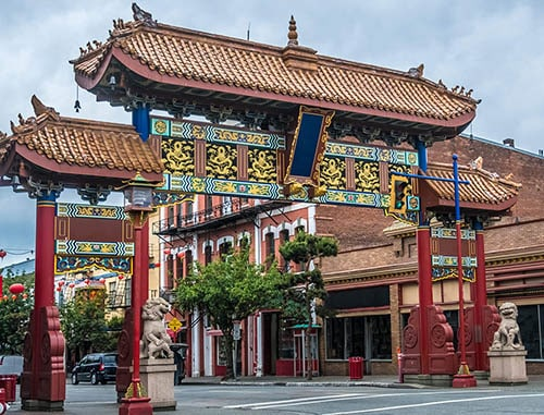 entrance to the second oldest chinatown in north america, found in victoria canada