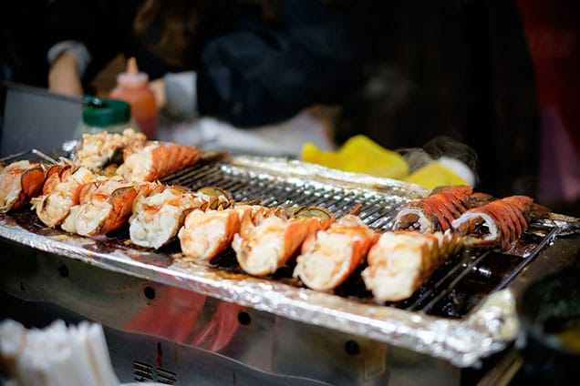 10 lobster tails grilled in st thomas