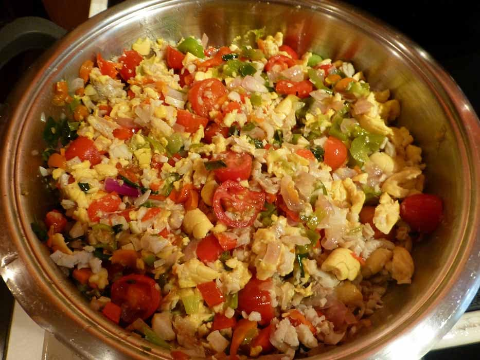 jamaican ackee and saltfish in a bowl