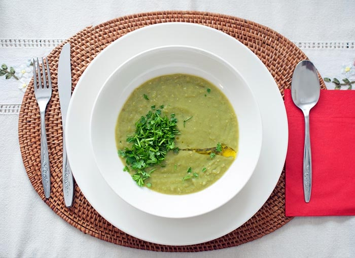 callaloo soup made in dominica