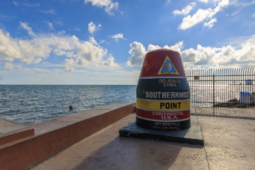 the southern-most point of continental united states, key west, fl