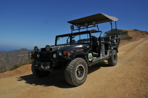 black-hummer-parked-on-a-hill-in-catalina-island