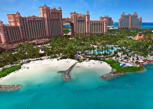 aerial view of atlantis aquaventure park in nassau bahamas