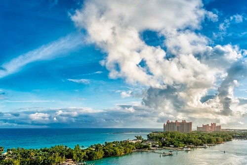 aerial view of the atlantis resort in nassau bahamas