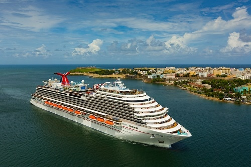 carnival horizon sailing to an island in the western caribbean