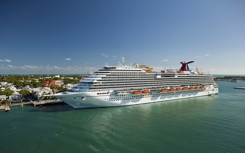 carnival magic sailing to a caribbean port