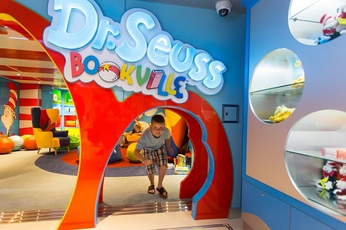 boy having fun at carnival vista's dr seuss bookville